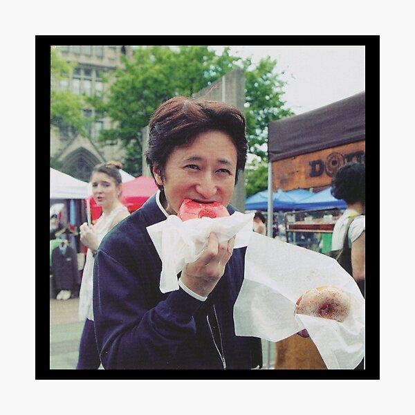 Araki Eating Donut Photographic Print