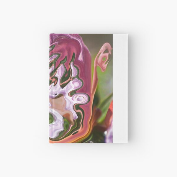 violet shape with lilac shades Hardcover Journal