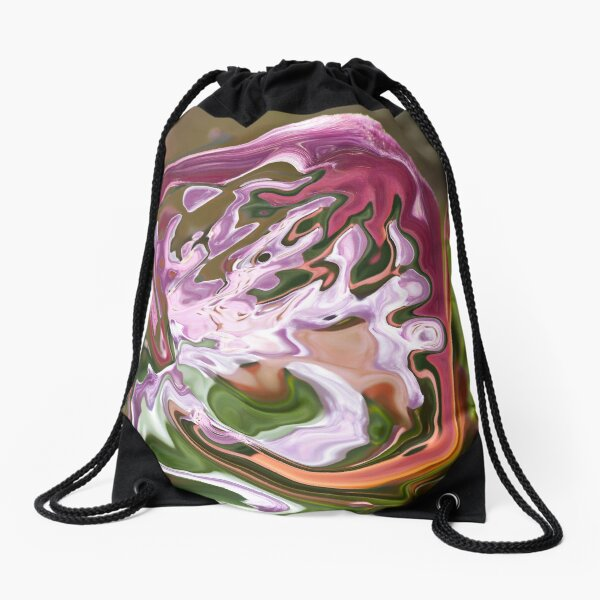 violet shape with lilac shades Drawstring Bag