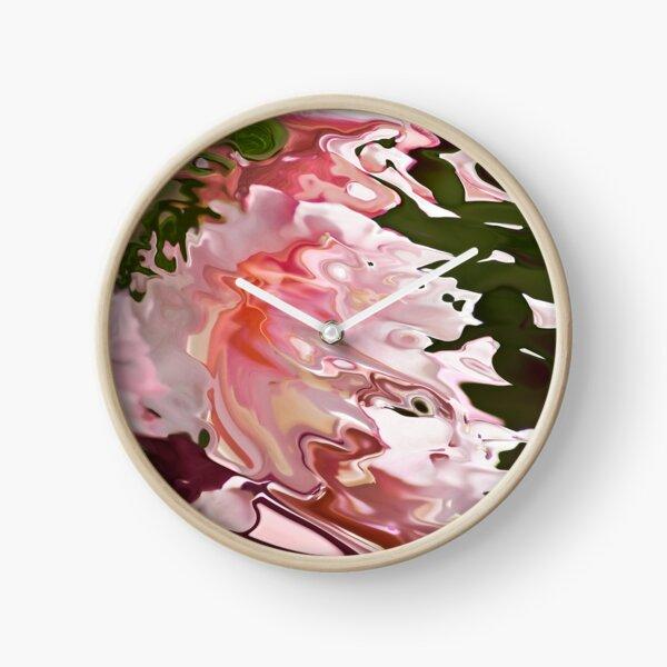 pink acquerello Clock