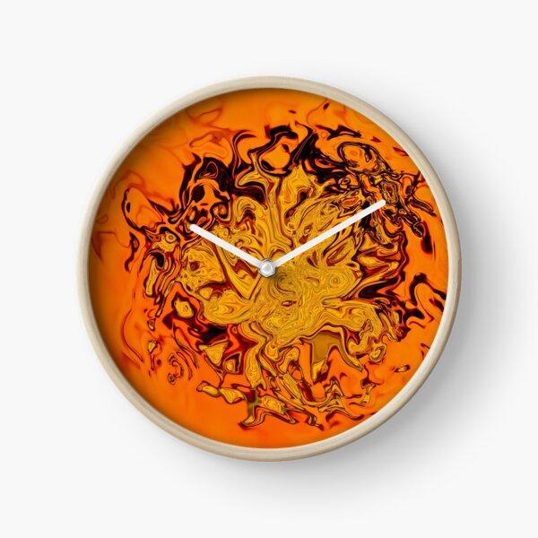 yellow and orange shades Clock