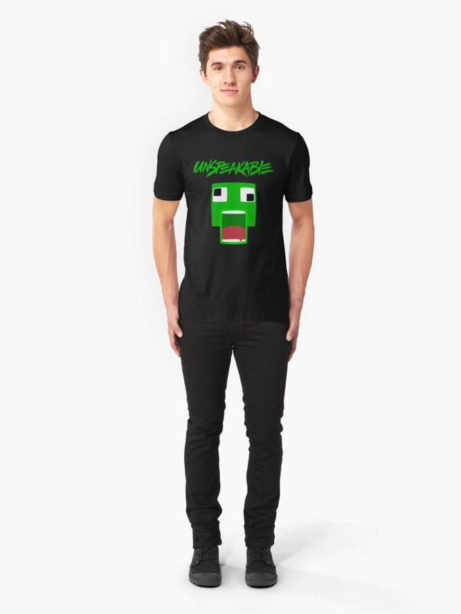 Alternate view of UNSPEAKABLE Fan Art Slim Fit T-Shirt