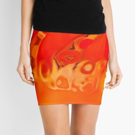 orange acquerello Mini Skirt