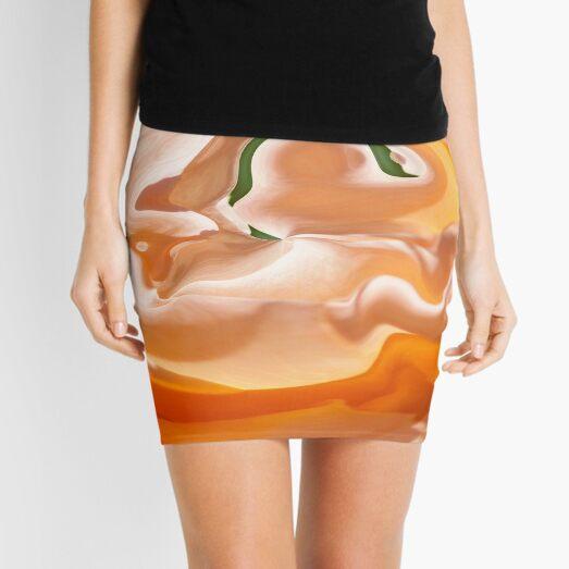 orange light and shade Mini Skirt