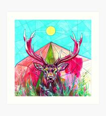 Deer Connections Art Print
