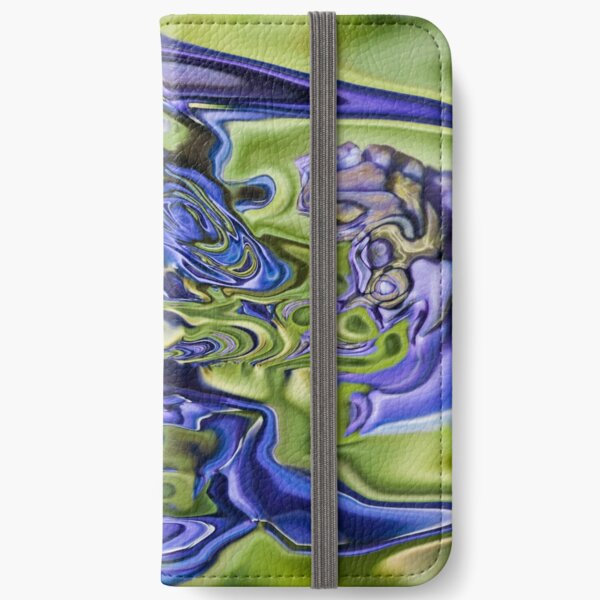 blue fantasy iPhone Wallet