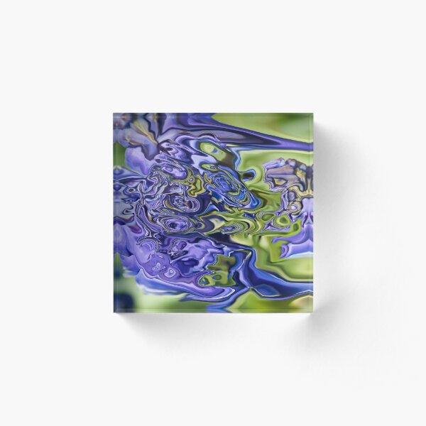 blue fantasy Acrylic Block