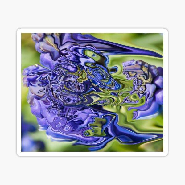 blue fantasy Sticker
