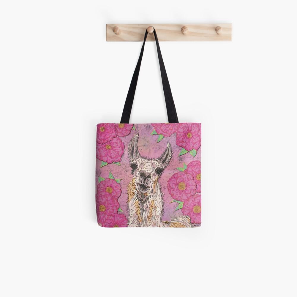 Perfectly Pink Llama Tote Bag