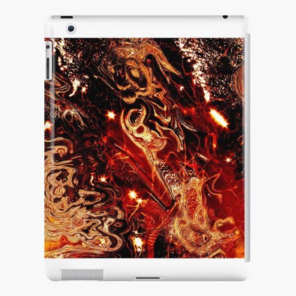 abstract fire lights iPad Snap Case