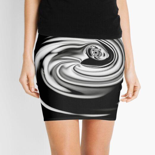 silver light vortex Mini Skirt