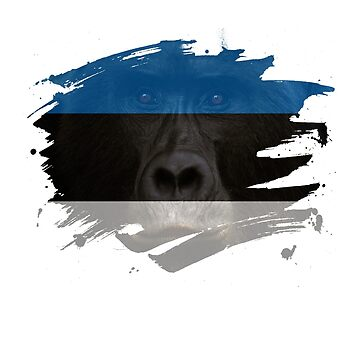 Estonia Gorilla Flag by ockshirts