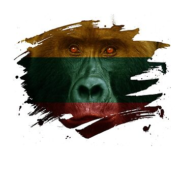 Lithuania Gorilla Flag by ockshirts