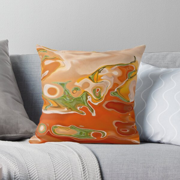 gleaming colors and contrasts Throw Pillow
