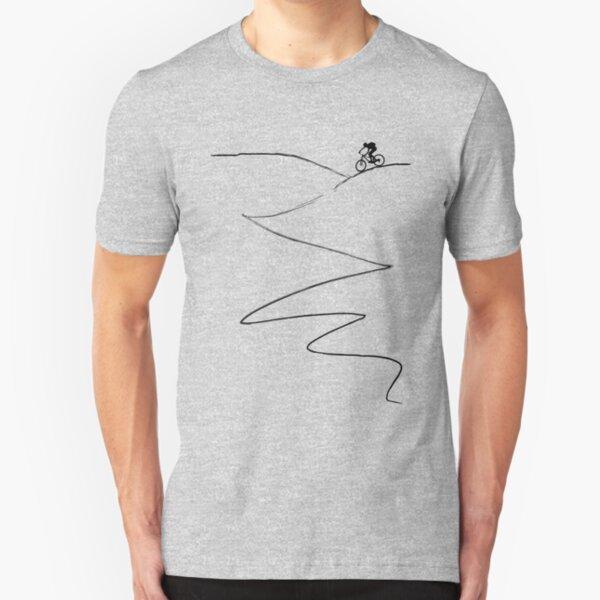 mtb mountain bike cycling bicycle cyclist gift Slim Fit T-Shirt