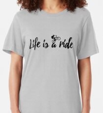 mtb mountain bike cycling cyclist bicycle quote gift Slim Fit T-Shirt