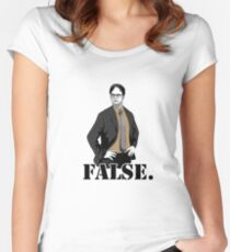 FALSE. Women's Fitted Scoop T-Shirt
