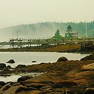 Tenants Harbor Cove, Maine, on a foggy morning by fauselr
