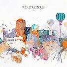 Albuquerque City Skyline by DimDom