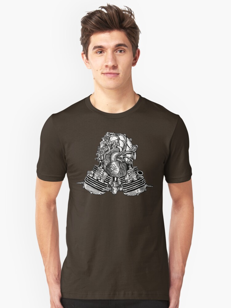 V Twin Heart (Victorian Edition) Unisex T-Shirt Front