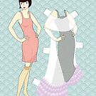 Flapper paperdoll - Evening gown by Ratherswell