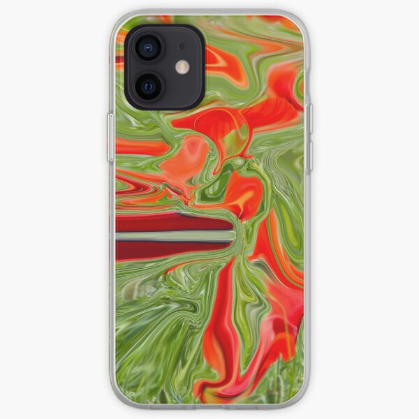 green and red color iPhone Soft Case