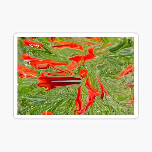 green and red color Sticker