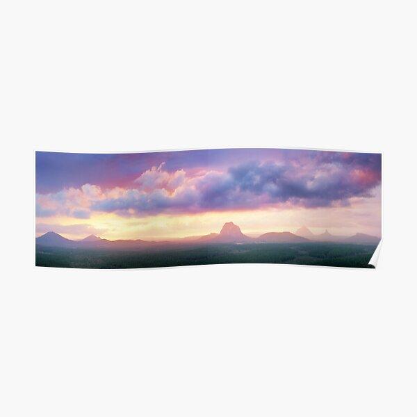 Wild Horse Mountain Lookout, Glass House Mountains, Queensland, Australia Poster