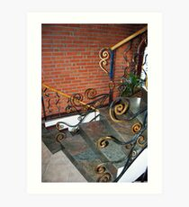fence wrought iron 03 Art Print