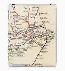 Vintage Map of The London Underground (1923) iPad Case/Skin
