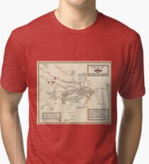 Vintage Map of The London Underground (1923) Tri-blend T-Shirt
