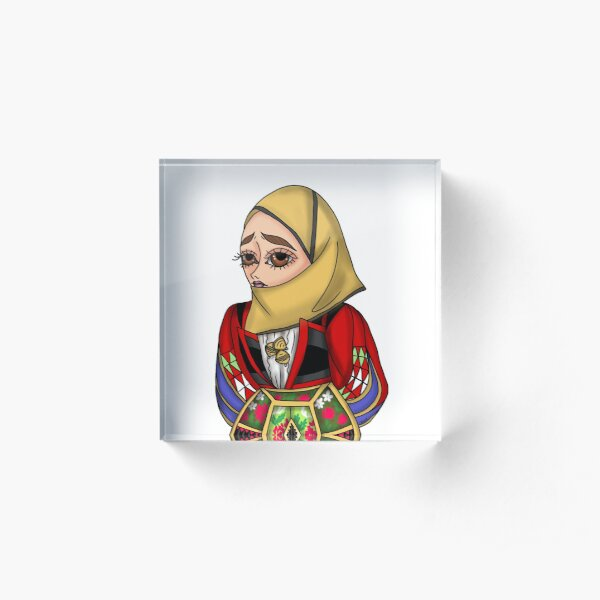Abito tradizionale di Orgosolo - Traditional Sardinian dress Acrylic Block
