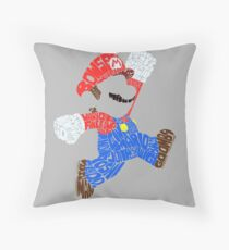 Super Mario Bits! Throw Pillow