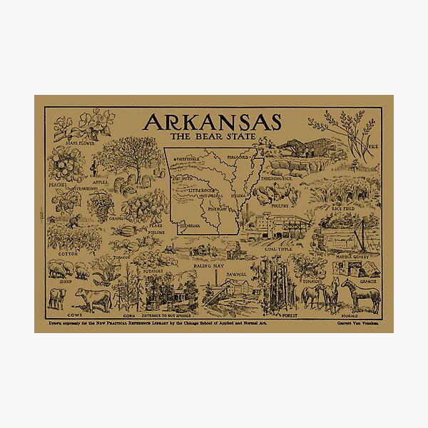 State History Of Arkansas Gifts Merchandise Redbubble