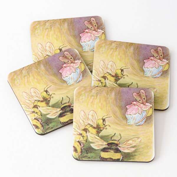 Mrs. Tittlemouse and the Bees - Beatrix Potter Coasters (Set of 4)