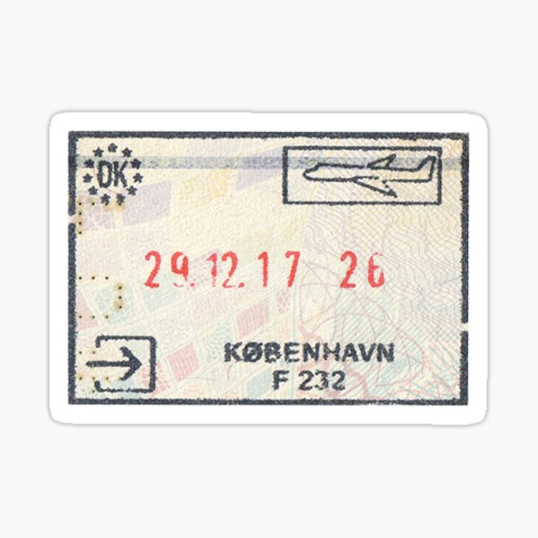 Denmark Passport Stamp Sticker