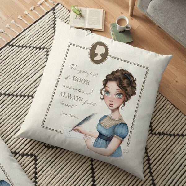 Jane Austen Portrait Floor Pillow
