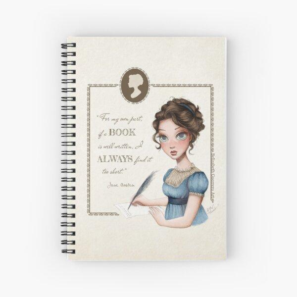 Jane Austen Portrait Spiral Notebook
