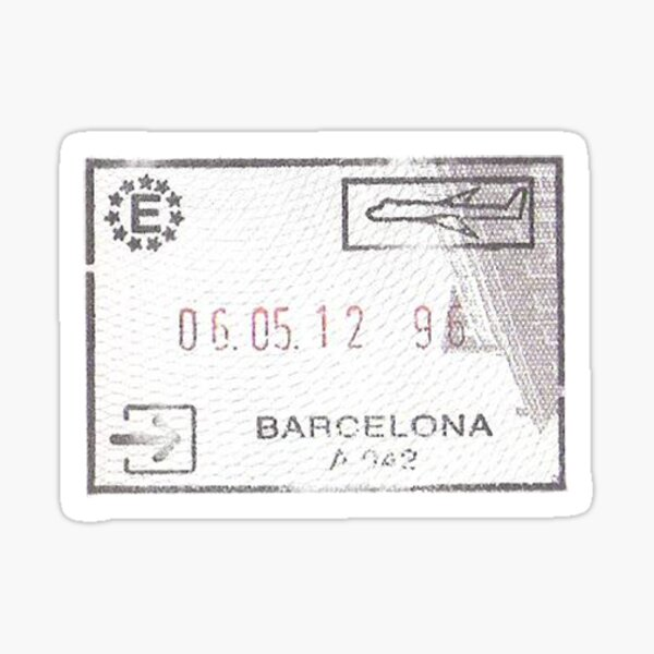 Spain Passport Stamp Sticker