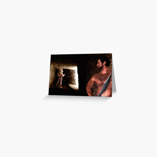 The Beast Within - Theseus and the Minotaur Greeting Card