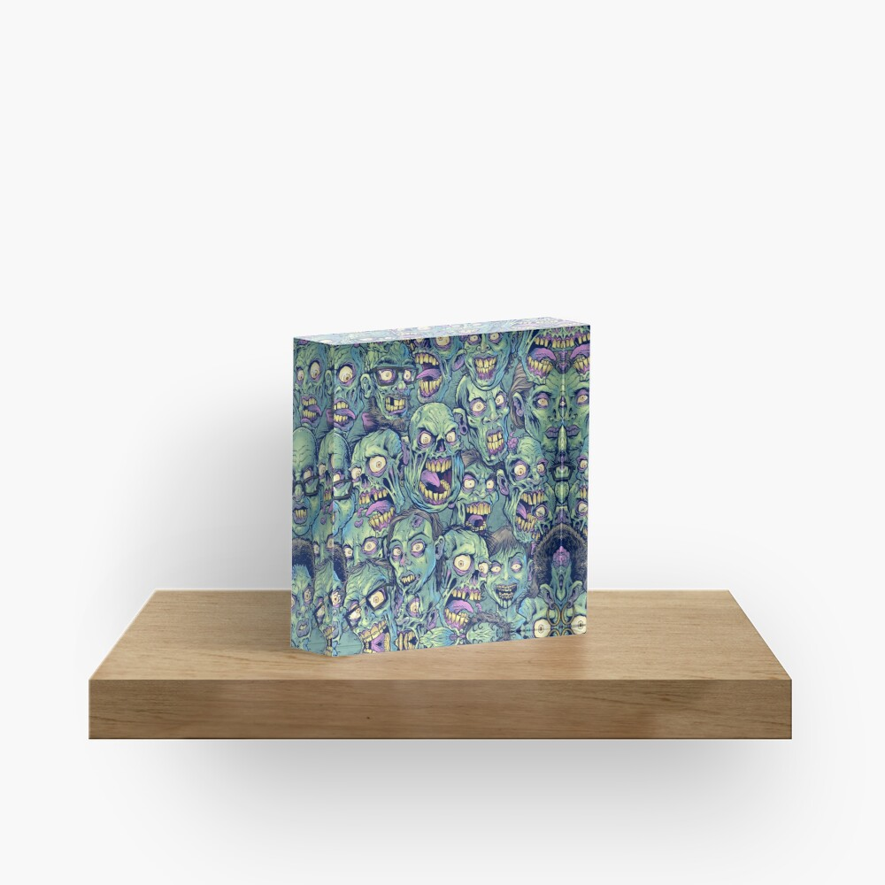 Zombie Repeatable Pattern Acrylic Block
