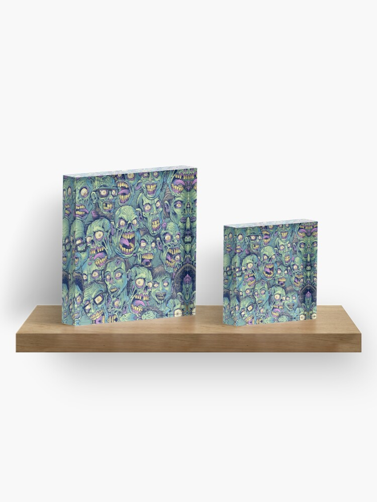 Alternate view of Zombie Repeatable Pattern Acrylic Block