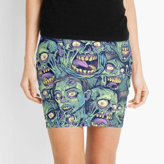 Patrón repetible zombie Minifalda