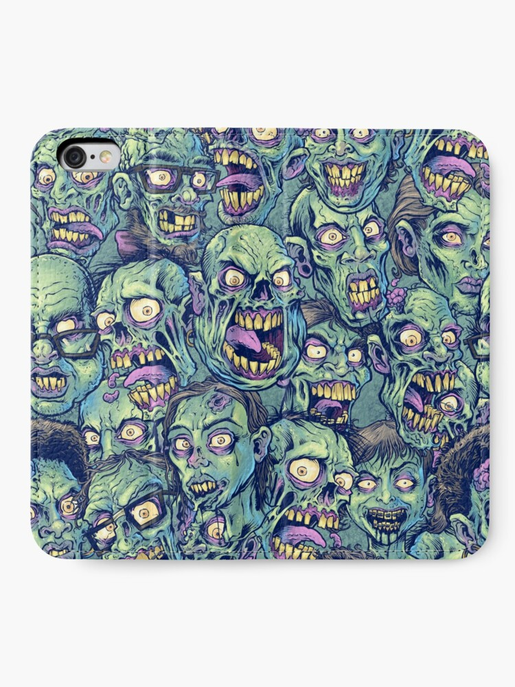 Alternate view of Zombie Repeatable Pattern iPhone Wallet