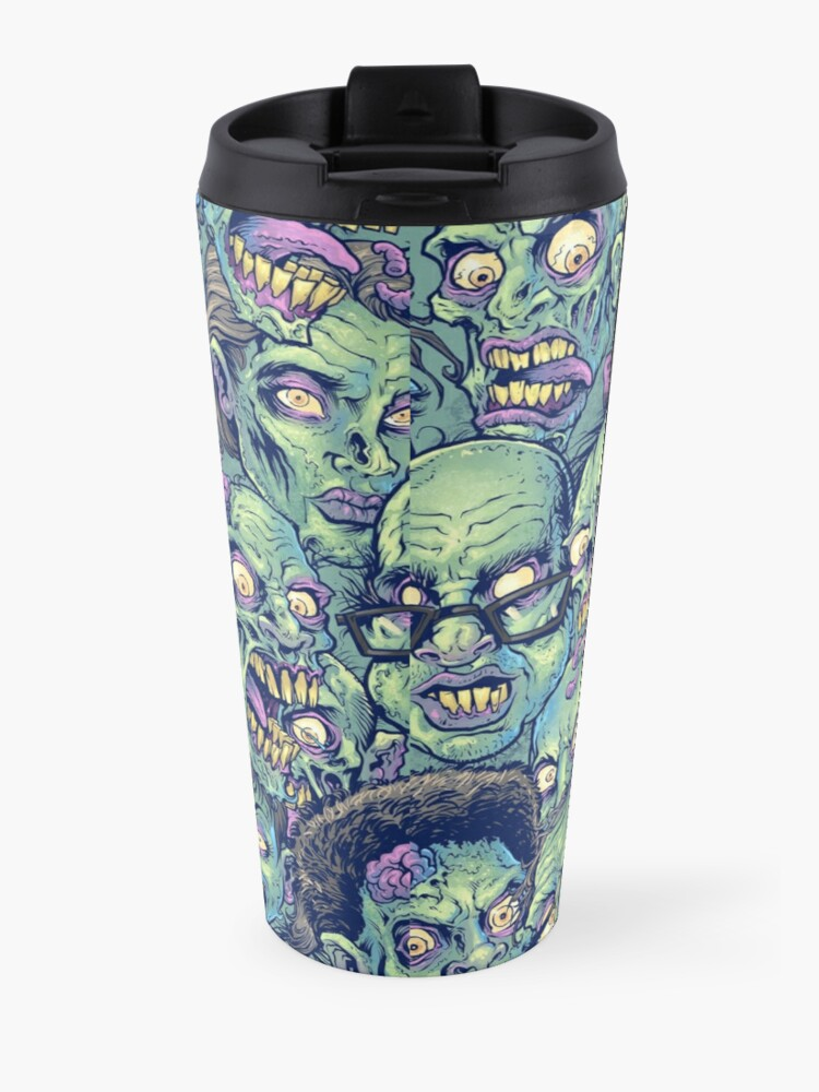 Alternate view of Zombie Repeatable Pattern Travel Mug