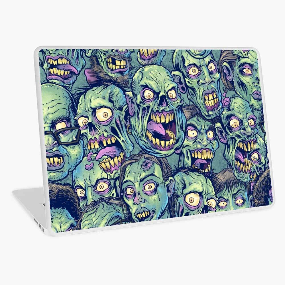 Zombie Repeatable Pattern Laptop Skin