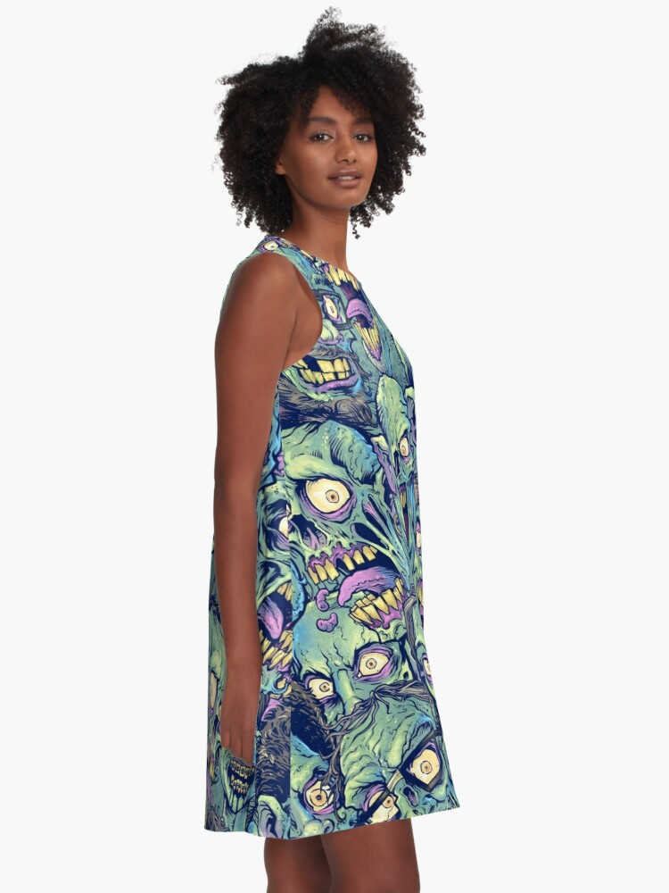 Alternate view of Zombie Repeatable Pattern A-Line Dress