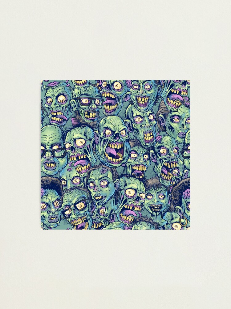 Alternate view of Zombie Repeatable Pattern Photographic Print