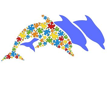 Its Ok To Be Different - Dolphin Autism Awareness Gift by EcoKeeps