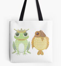 Frog & Fish Tote Bag